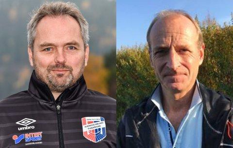 NY TRENERDUO: Kjetil Rydje (t.h.) og Roar Ness er nye A-lagstrenere i Aurskog-Høland FK.
