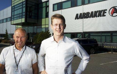 HAR SAGT OPP: Administrerende direktør Gisle Bryne i Aarbakke AS (til høyre) skal slutte i bedriften. Gründer Inge Brigt Aarbakke får igjen en mer sentral rolle.