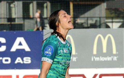 NESTEN: Kristina Maksuti var nær scoring for klepp i sluttminuttene mot LSK.