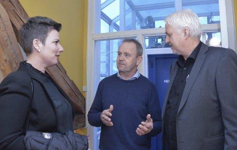 ANKET: Henriette Fluer Vikre, Grunde Knudsen og Reidar Skoglund anket sammen med Johan Tønnes Løchstøer ansettelsen av et anleggsteam til kommunestyret.