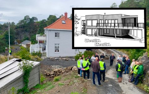 VIL BYGGE: Den nye eneboligen ønskes bygd der hvor den gamle garasjen står i dag, ved siden av presteboligen på Utsikten.