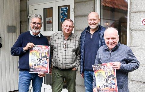 Høstfest: Tron Mathisen, Morten Skjævestad, Roar Aasulfsen og Svein Andresen ønsker velkommen til Musikalsk høstfest i Kragerø.