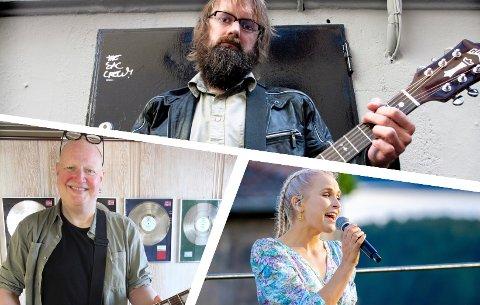 Bare Egil band, Frode Alnæs og Eva Weel Skram er noen av de som blir å se på scener rundt om i Kragerø i sommer.