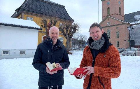KULTURKVELD: Reidar Aasbø og Matthias Anger inviterer til digital kulturkveld.