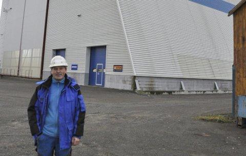 Fornøyd: Daglig leder Brynjar Krogstad ved Lofoten Sveiseindustri i Svolvær er fornøyd med aktivitet på Hjellskjæret. – Vi har oppdrag ut 2017. Gjør vi en god jobb kommer kundene tilbake, sier Krogstad som har fiskeri og oppdrett som største kunder.