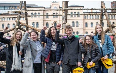 Markering: Natur og ungdom står bak mandagens markering i Moss, sammen med  Naturvernforbundet, Framtiden i våre hender og Besteforeldrenes Klimaaksjon.