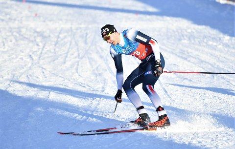 STERKT: Ole Jørgen Bruvoll var kun 11 sekunder unna pallplass i søndagens fristilrenn på Beito: – Det var blytungt!, sa libyggen etter løpet.