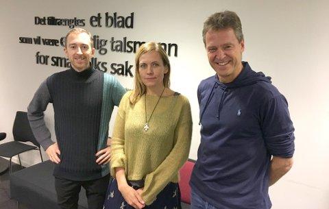 JURYEN: Pluss-fondets jury består av Lasse Lauritz Pettersen, Nordlys-redaktør Sissel Wessel-Hansen og Jens Johan Hjort.