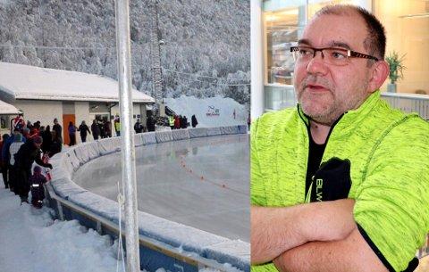 RYSTET: Geir Arne Nordstrand, leder i Tromsø Skøyteklubb, forstår ikke at kommunens administrasjon går for en løsning der de tømmer kunstisanlegget i Tromsdalen for glykol. En full oppretting av anlegget vil da koste over tre millioner kroner, noe han overhodet ikke ser for seg at kommunen vil gjøre.