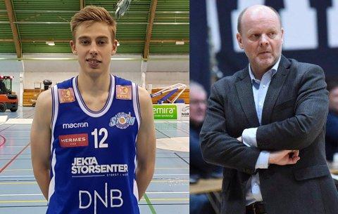 KRITISK: Baard Stoller (t.h.) er blant dem som mener det er rart at blant andre Tromsø Storm-spiller Aron Finstad (t.v.) ikke har blitt forespurt om en plass på landslaget til helga, samtidig som den store hoveddelen av troppen har tilhørighet til klubbene som landslagstrenerne jobber for til daglig.