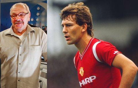 LEGENDEPRAT: Egil Jens Pettersen får lede et langt intervju med Manchester United-legenden Bryan Robson når han besøker Tromsø 17. februar.