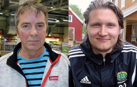 TØFFE TIDER: Styreleder Herleif Hanssen (t.v.) i Finnsnes bekrefter at klubben ikke skal ha proffkontrakter i 2020. Det medfører at en rekke spillere forsvinner ut, deriblant toppscorer Vebjørn Grunnvoll (t.h.), som i november ble enig med klubben om en ny avtale.