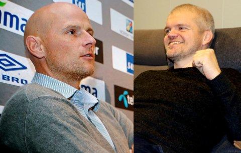 AMBIVALENT: Ståle Solbakken (t.v.) er ikke i tvil om at TIL får en dyktig trener i Gaute Ugelstad Helstrup, men han mener overgangen fra hans kjære HamKam til TIL kunne skjedd på en mer smidig måte.