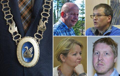 ORDFØRERKANDIDATER?: Torvild Sveen, Even Solhaug, Anne Bjertnæs og Stian Simensen er aktuelle som ordførerkandidater i Gjøvik.