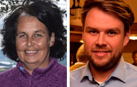 Den sittende posisjonen i Søndre Land, her ved lokallagslederne Anne Hagenborg (Ap) og Geir Martin Steinsli (Sp), vil ikke lenger gi noen lovnader om ikke å innføre eiendomsskatt.