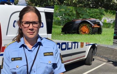 POPULÆRE: Robotgressklippere både selges og stjeles  i større omfang enn før. Politiadvokat Marte Johansen opplyser om tyverier både i Gjøvik og på Toten i sommer.