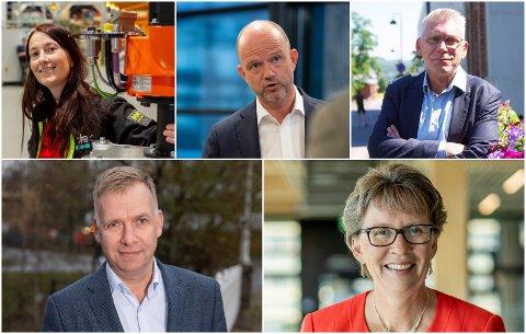HAR SVART: OA har pratet med Anita Hager (Intek), Ole Erik Almlid (NHO), Iver Erling Støen (LO), Arne Jebsen (Hunton) og Gro Kvanli Dæhlin (NTNU).