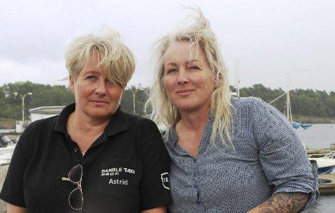 FISKERE: Astrid Salen Lystad og Aase Salen Hagen i TEAM AAA