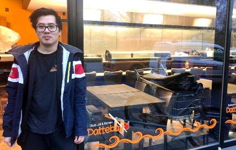NUMMER TRE: Dattebayo Down Town blir Lee Trinhs tredje restaurant. Fra før driver han i Bø og Skien. – Vi er ikke redd for konkurransen i byen, understreker han.