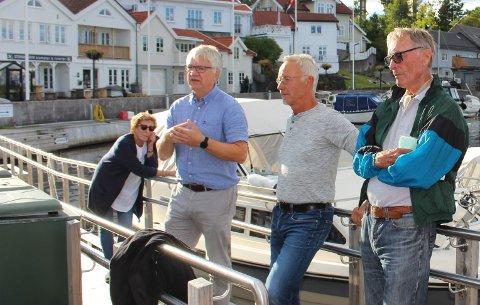 GAMLE STATHELLE: Bjørn Anderson og flere beboere på Gamle Stathelle møtte Hallgeir Kjeldal og flere andre politikere i Bamble Ap i september 2020. De diskuterte forholdene med bråk og uro i boligområdet og i havna.