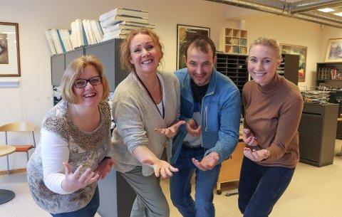 Gleder seg: Elin Marie Rud (fra venstre), Anja Guerrera, Hans Oskar Gudim og Marita Lundsrud Berg håper å få mange søknader. Foto: Ina Authen