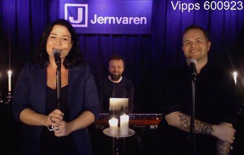 Jill Larsdotter, Thomas Langvann og Alex Cornelius Sørensen hadde livekonsert på Facebook søndag 5. april.