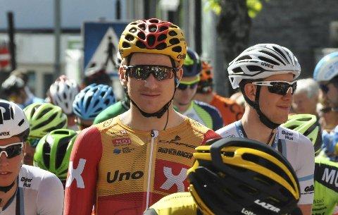 Hektiske dager: Lars Saugstad tråkket til under UCI-rittet Gylne Gutuer på Ottestad i helga.