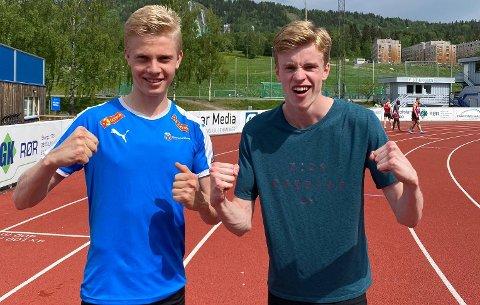 Raske: Håvard Bentdal Ingvaldsen (til høyre) løp svært raskt på Stampa lørdag. Ett år yngre Andreas Grimerud følger hakk i hæl.