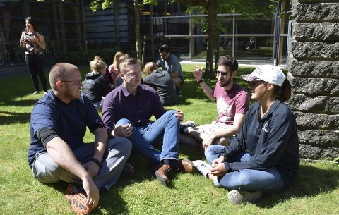 Fra USA: Jacob Sanders (Texas Tech University), Fredrik Bakke (HSN), Jacob Hicks (Texas Tech University) og Hannah Brown (Texas Tech University).