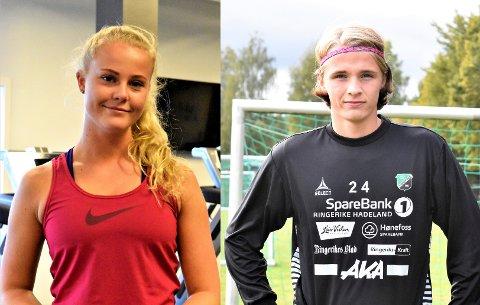 Ida (18) og Sivert (16) jobber mot ulike mål, men de har treningsglede til felles.