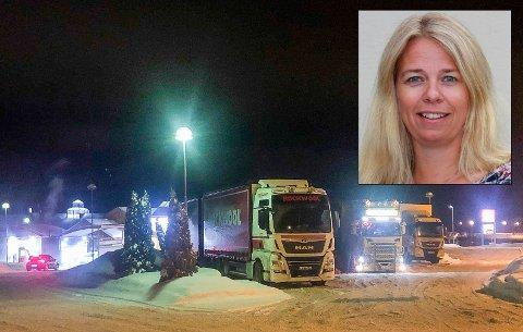 IKKE ET STORT PROBLEM: Helsesykepleier Pia Mandt har ikke inntrykk av at ungdom har for vane å kjøpe ulovlig alkohol på trailerparkeringen på Vik.