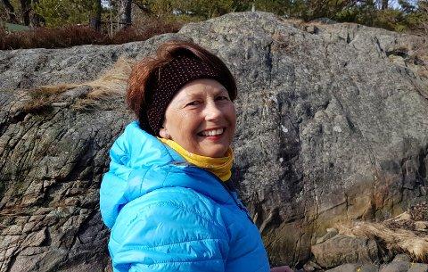 NATUREN: Ann Karin Swang er glad i å ferdes i naturen. Det er bra avkobling i en spennende arbeidshverdag.