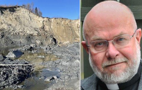 SIKKERT: – Vi har fått tillatelse til å bruke festplassen, som ligger utenfor det avsperrede området, sier sokneprest Nils Christian Skjauff.