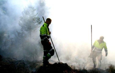 ADVARER: Brannvesenet ber nå folk om ikke å gjøre opp ild i friluft i Asker.
