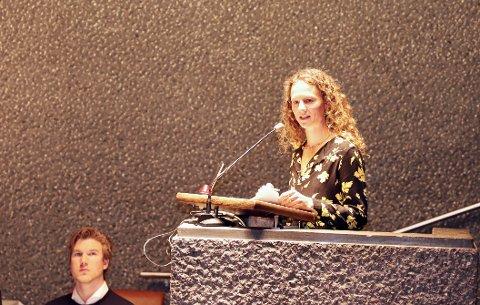 MARKERTE SEG: MDGs Hanne Lisa Matt og resten av opposisjonen viste på det konstituerende kommunestyremøte tirsdag at de kommer til å markere seg.