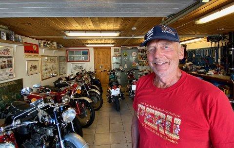 LEDER: Knut Hugo Hansen leder av CHC Norway og innehaver av Classic Honda service.