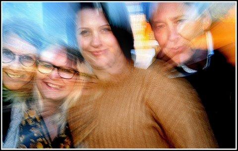 Ber inn til folkemøte om kultur: Gøril Eilertsen (fra venstre), Silje Waters, Therese Thorbjørnsen og Henrik Eurenius er blant dem som vil høre dine meninger om hvordan Sarpsborgs kulturliv skal være i framtiden.