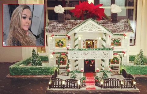 TÅLMODIGHETSPRØVE: Pepperkakehuset til Jeanette er planlagt ned til minste detalj og har tatt opp mye av tiden hennes i desember.