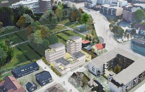 22 LEILIGHETER: Slik ser LINK Arkitektur for seg at det nye boligprosjektet med 22 leiligheter, skal bli.