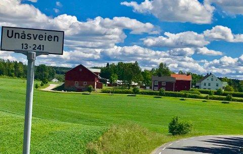 I flere generasjoner har veien inn til Unaas gård hatt navnet Unaasveien. Nå heter den Unåsveien.