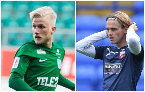 SNART KLARE: Henri Järvelaid (22) og Ronan Darcy (20) nærmar seg spel for Sogndal, og kan få debutane sine etter landslagspausen.