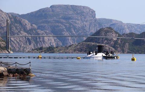 VISNING: Ryfish AS, som driver fiskegloben i Lysefjorden, har søkt om en visningskonsesjon for akvakultur ved Lysefjordsenteret.