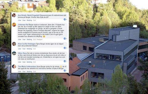 REAGERER: Mange reagerer på at det ikke gjøres noe mer drastisk da man lider av plassmangel på Tømmerås skole. Flere peker på at man bør flytte de yngste til nedlagte Berger skole.