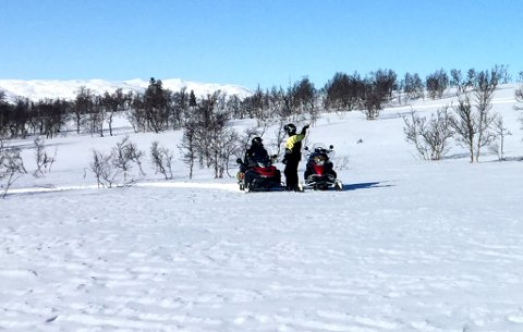 Politiet hadde en storoffensiv mot snøscooterførere i Vinje lørdag.