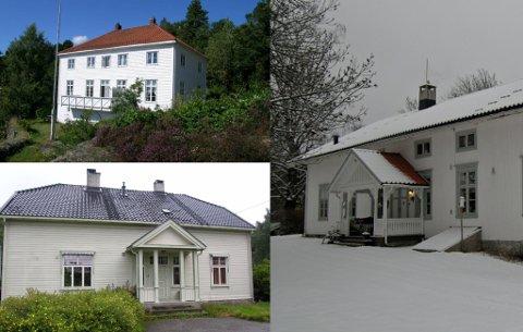 TIL SALGS: Prestegårdene på Skåtøy og på Dalen er til salgs. Det er også Holla prestegård på Ulefoss. Flere andre prestegårder vil komme for salg de neste årene. Foto: Opplysningsvesenets fond