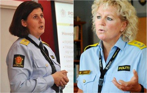 TRAKK SØKNADEN: Tidligere politimester i Telemark, Rita Kilvær (til venstre), trakk sin søknad om å bli visepolitimester i Sør-Øst politidistrikt, etter at politimester Christine Fossen (til høyre) skal ha baksnakket og kalt en ansatt for en «sleip ål».