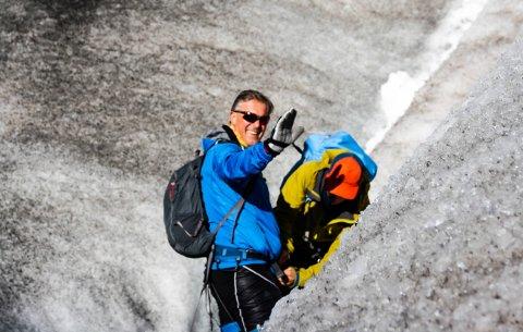 FRISKUS: Den nye skageraksjefen, Jens Bjørn Staff, er friluftsmann når han har tid.