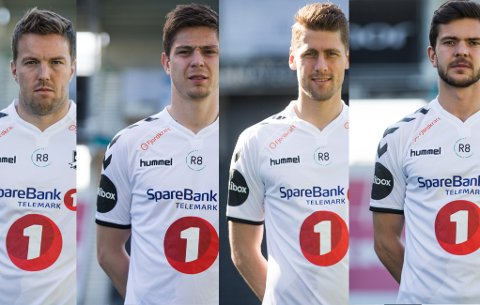 Espen Ruud, Torgeir Børven, Fredrik Semb og Fredrik Oldrup Jensen. Foto: NTB Scanpix