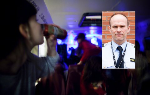 IKKE GREIT: Geir Oustorp mener det ikke er greit for de under 18 år å «rulle» med russen. Foto: Vilde Jagland