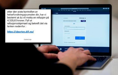 Helsenorge advarer om falske e-poster og SMS-er som har som mål å få folk til å oppgi kredrittkortinformasjon.